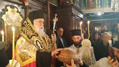 """Photo of Bishop of Corfu, Mr. Nektarios: """"In this messy world, let's see our mistakes!"""""""