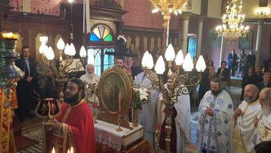 """Photo of Bishop of Corfu, Mr. Nektarios: """"Saints show us the correct way to the path of our lives"""""""