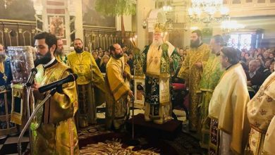 """Photo of Bishop of Corfu, Mr. Nektarios: """"Today's boldness is seen as an annoyance and as a revolt."""""""