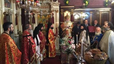 """Photo of Bishop of Corfu, Mr. Nektarios: """"We should accept God's love and become students of the Saints"""""""