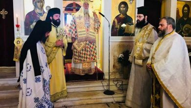 """Photo of Bishop of Corfu, Mr. Nektarios: """" Holy Fathers are the symbols of our Faith"""""""