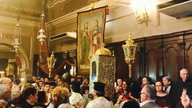 Photo of The Basmata (re-entrance of the relic in its place) of Saint Spyridon