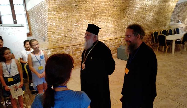 The Bishop of Corfu visits the last camping period in Corfu Town