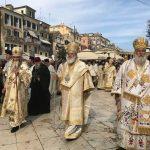 The litany of Protokyriako in Corfu.