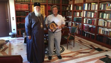 Photo of THE NEW DIRECTOR OF SECONDARY EDUCATION VISITS THE BISHOP OF CORFU