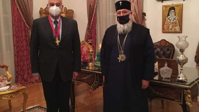 Photo of THE MINISTRY OF FOREIGN AFFAIRS MET THE BISHOP OF CORFU