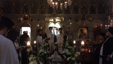 Photo of THE OUTGOING PROCESSION OF THE BELOVED LATE ABBOT OF PALAIOKASTRITSA FR. EFTHIMIOS DOUIS