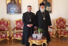 Photo of THE NEW ARCHBISHOP OF THE ROMAN CATHOLICS IN CORFU MET THE BISHOP OF CORFU
